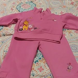 2 piece matching pooh bear sweat suit
